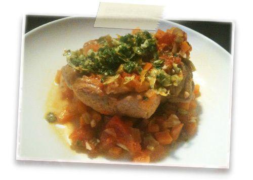 Osso bucco de poulet gremolata aux agrumes emilie - Cuisiner un osso bucco ...