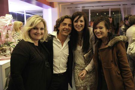 Mélanie Desbiolles, Xavier Malandran, Emilie Charignon, et Nathalie Nguyen ex candidats de Masterchef lors de l'inauguration de