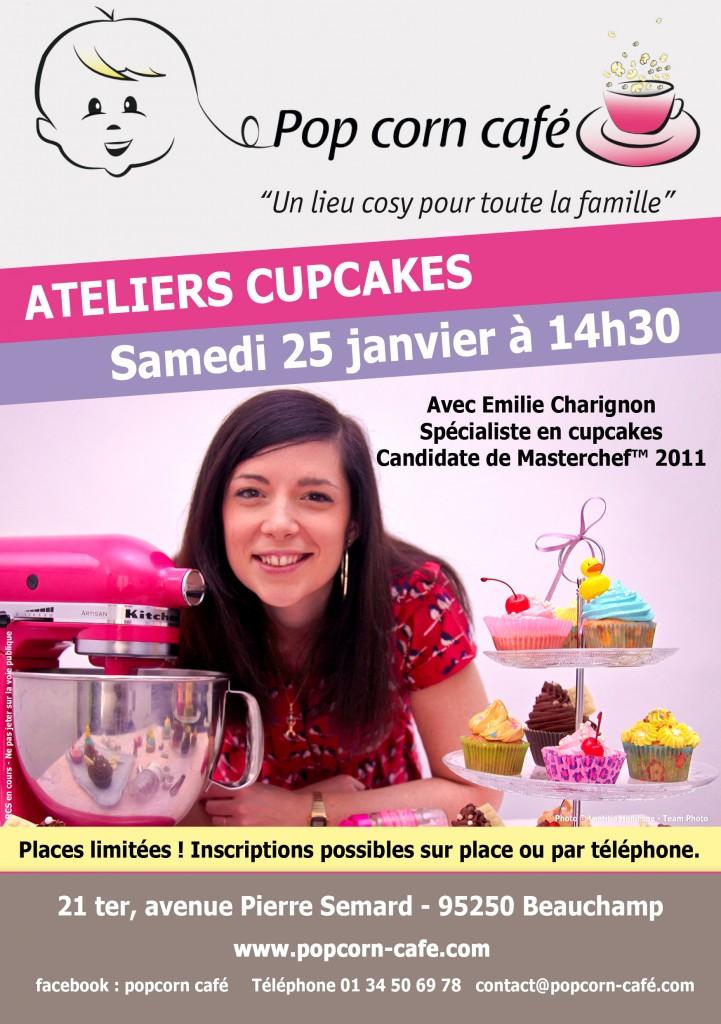 RDV le 25 janvier prochain : Atelier Cupcakes citron vert framboises au Pop Corn Café