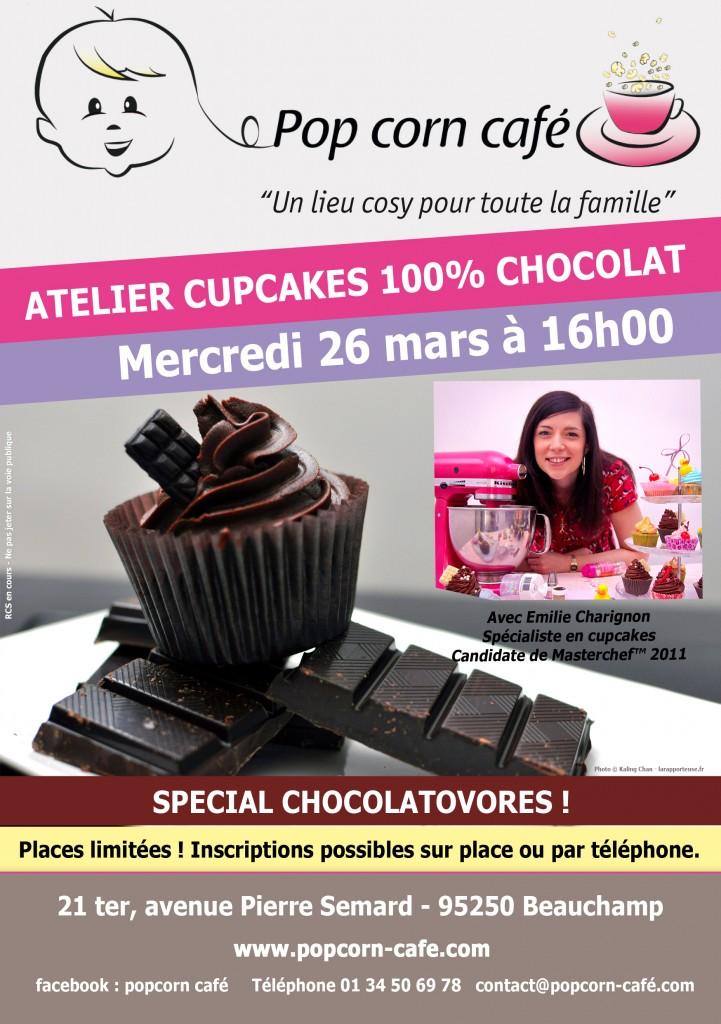 Atelier Cupcakes Chocolat Pop Corn Café